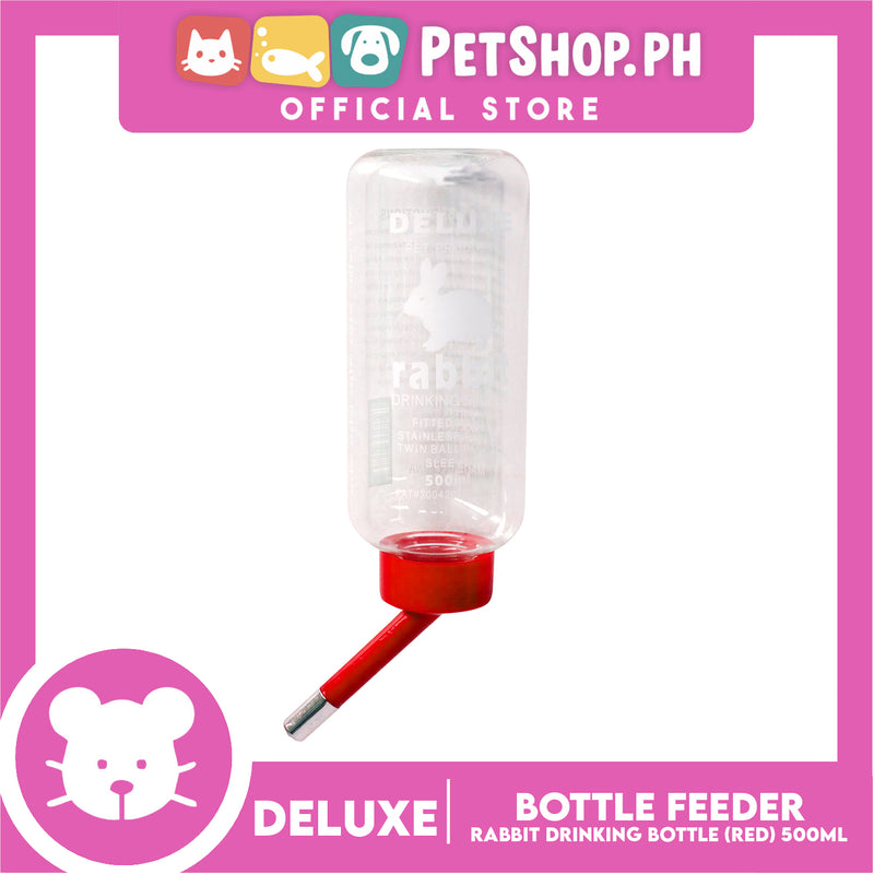 Deluxe Rabbit Drinking Bottle Red 500ml