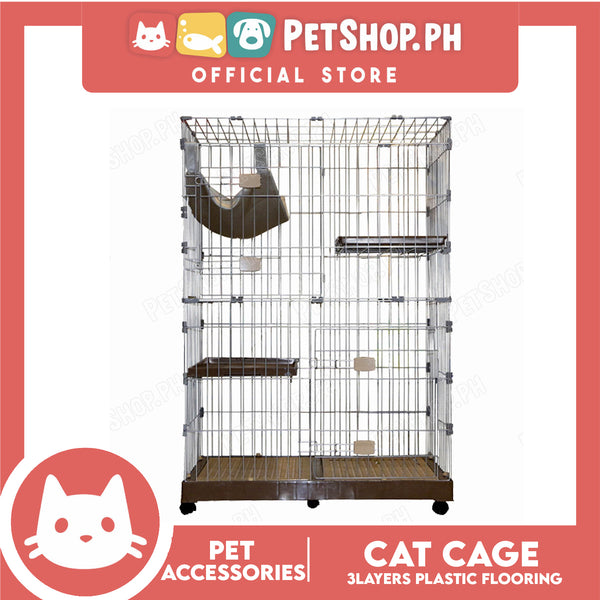 Cat Cage 3 Layers CP-3W Plastic Flooring Cage