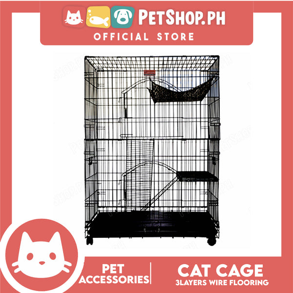 Cat Cage 3 Layers Cl-3F Wire Flooring Cat Cage