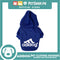 Adidog Pet Clothes Hoodies, Dog Winter Hoodies Apparel Puppy Cute Warm Hoodies Coat Sweater (Blue) (Medium)