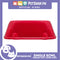 P637 Square Single Bowl Large Red