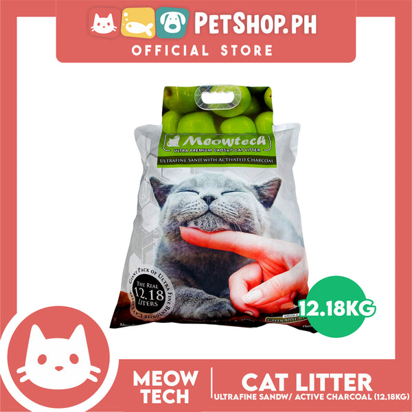 Meowtech Ultra Premium Cat Litter Green Apple Scent 12.18L