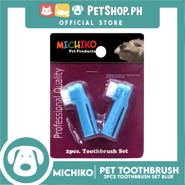 Michiko Toothbrush 2pc Set Blue