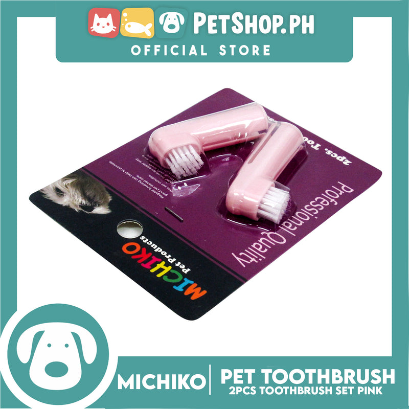 Michiko Toothbrush 2pc Set Pink