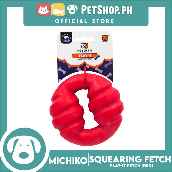 Michiko Play It Squeaking Fetch Red