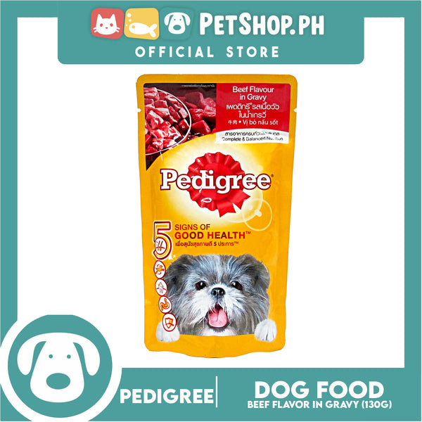 Pedigree Beef Chunks In Gravy 130G