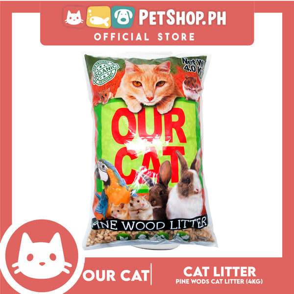 Our Cat Organic Cat Litter Pinewood Scent 4kg