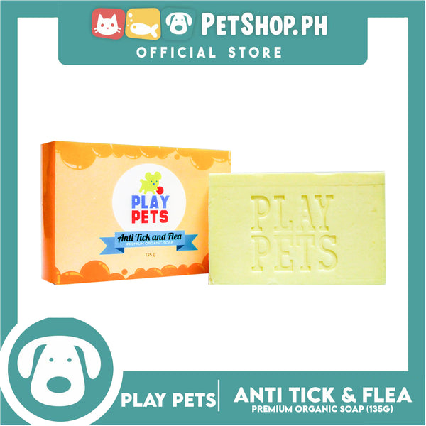 Play Pets Anti Tick and Flea Soap 135g