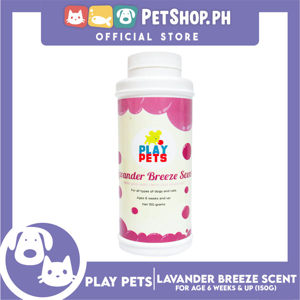 Play Pets Dry Shampoo Lavender Breeze Scent 150g
