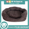 Pet Bed Comfortable Octagonal Cuddler Dog Bed 42x35x13cm Small for Dogs & Cats (Brown)