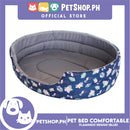 Pet Bed Comfortable Sleeping Bed with Flamingo Design 30x22x9cm for Dogs & Cats Blue