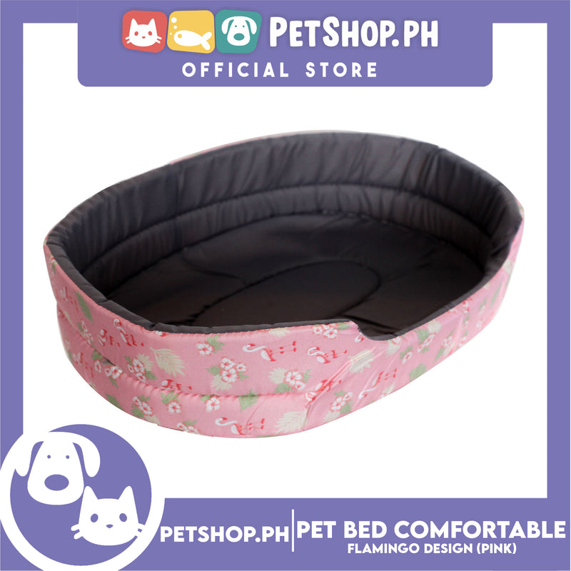 Pet Bed Comfortable Sleeping Bed with Flamingo Design 30x22x9cm for Dogs & Cats Pink
