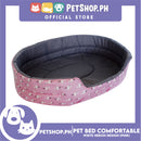Pet Bed Comfortable Sleeping Bed with White Heron Design 30x22x9cm for Dogs & Cats Pink