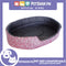 Pet Bed Comfortable Sleeping Bed with White Heron Design 55x42x13cm for Dogs & Cats Pink