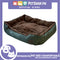Pet Bed Comfortable Sofa Bed with Paw Embroidery Design 90x75x16cm Large for Dogs & Cats (Green)