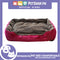 Pet Bed Comfortable Sofa Bed with Paw Embroidery Design 80x60x16cm Medium for Dogs & Cats (Pink)