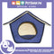 Portable Pet House Bed With Soft Sided Solid Color 25x31x32cm Small (Blue)