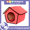 Portable Pet House Bed With Soft Sided Solid Color 35x39x43cm Large (Peach)