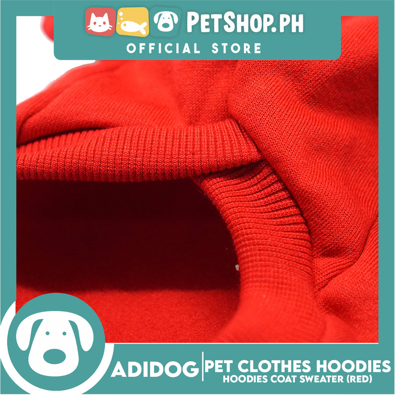 Adidog Pet Clothes Hoodies, Dog Winter Hoodies Apparel Puppy Cute Warm Hoodies Coat Sweater (Red) (XL)