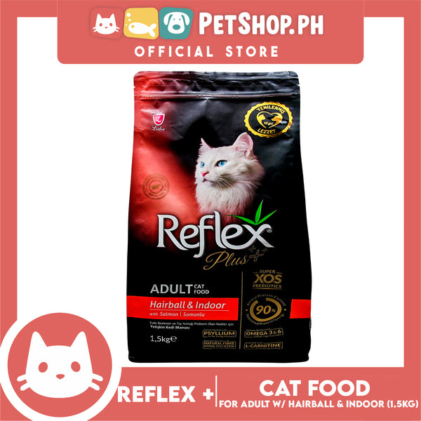 Reflex Adult Cat Food Hairball & Indoor with Salmon 1.5 Kg