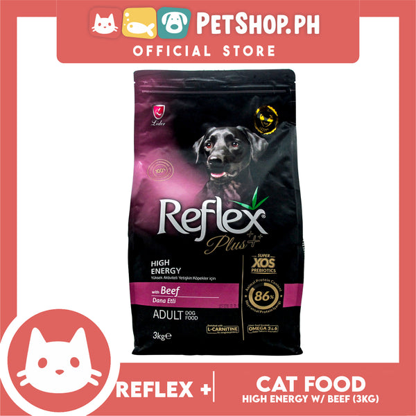 Reflex Adult Dog Food High Energy with Beef 3kg