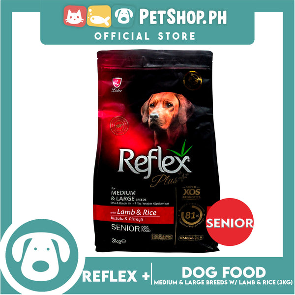 Reflex Senior Dog Food for Medium & Large Breeds with Lamb & Rice 3kg
