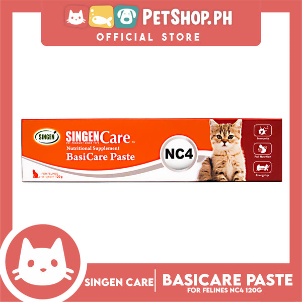 Singen Nutritional Supplement NC4 Basicare Paste for cats 120g
