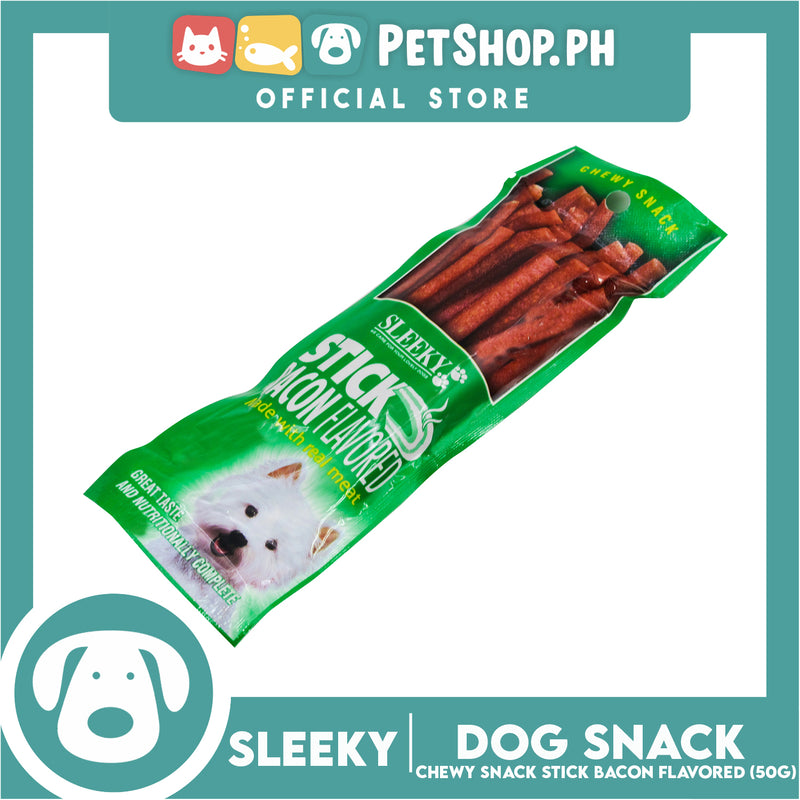 Sleeky Chewy Stick Bacon Flavored 50g