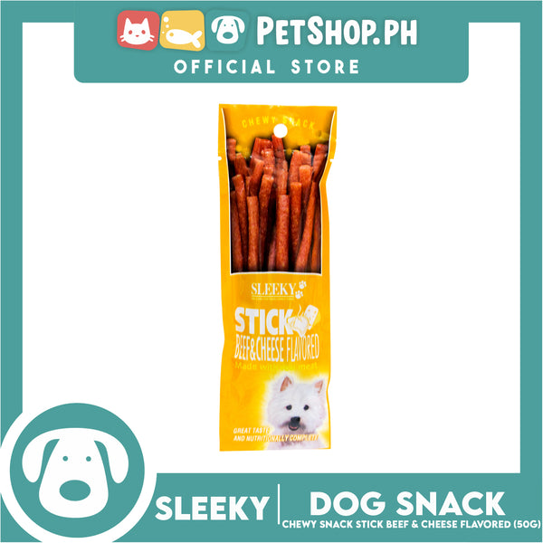 Sleeky Chewy Stick Beef & Cheese Flavored 50g