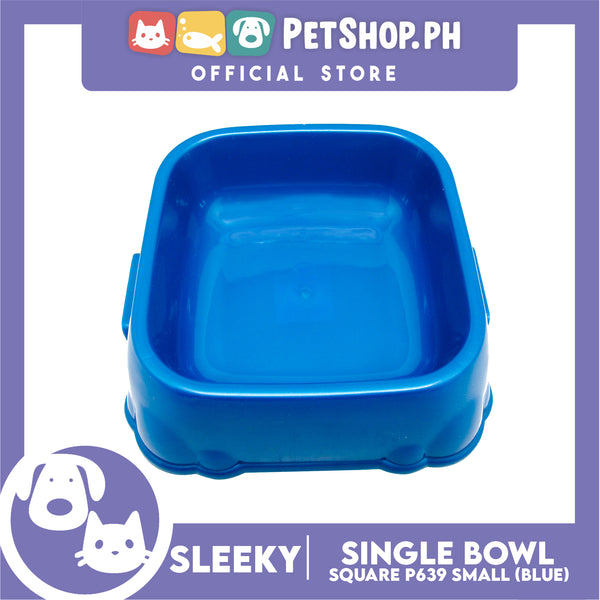 P639 Square Single Bowl Small Blue