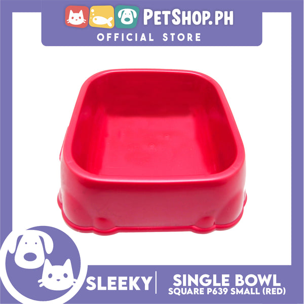 P639 Square Single Bowl Small Red