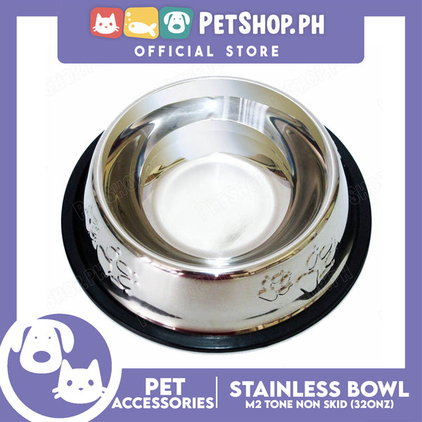 M4 Two Tone Non Skid Stainless Bowl 32oz