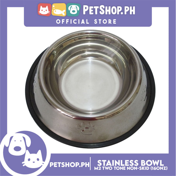 M2 Two Tone Non Skid Stainless Bowl 16oz