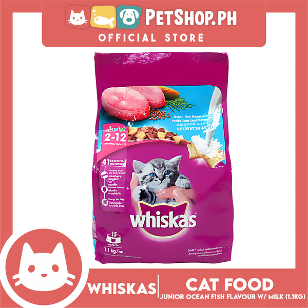 Whiskas Junior Ocean Fish with Milk 1.1kg