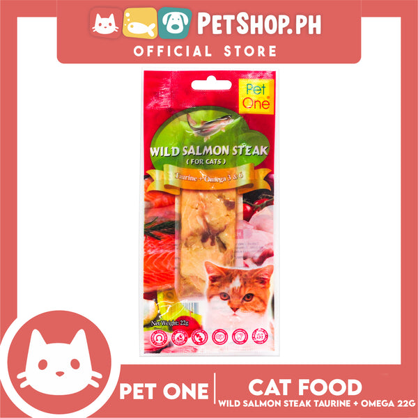 Pet One Wild Salmon Steak For Cat 22G