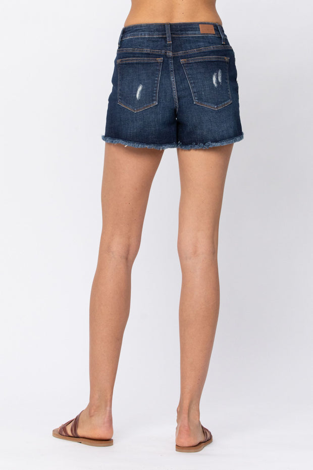 Hide and Go Seek Camo Patch Shorts by Judy Blue