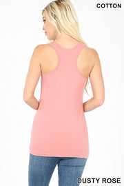 Just The Basics Racerback Tank in Ice Blue