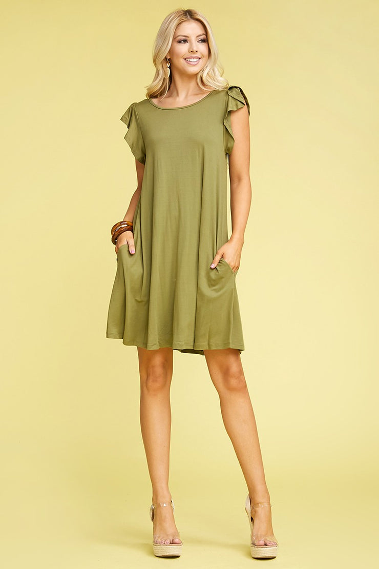 The Cynthia Dress in Olive