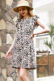 The Cynthia Dress in Leopard - The Teal Turtle Clothing Company