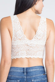 Little Bit Of Lace Bralette in White