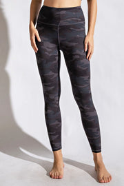Soft As Butter Leggings in Grey Camo