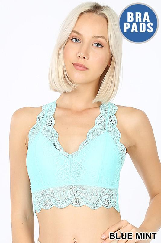 Lacy Bralette in Blue Mint - The Teal Turtle Clothing Company