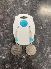Luna Bay Designs Authentic Coin Earrings - The Teal Turtle Clothing Company