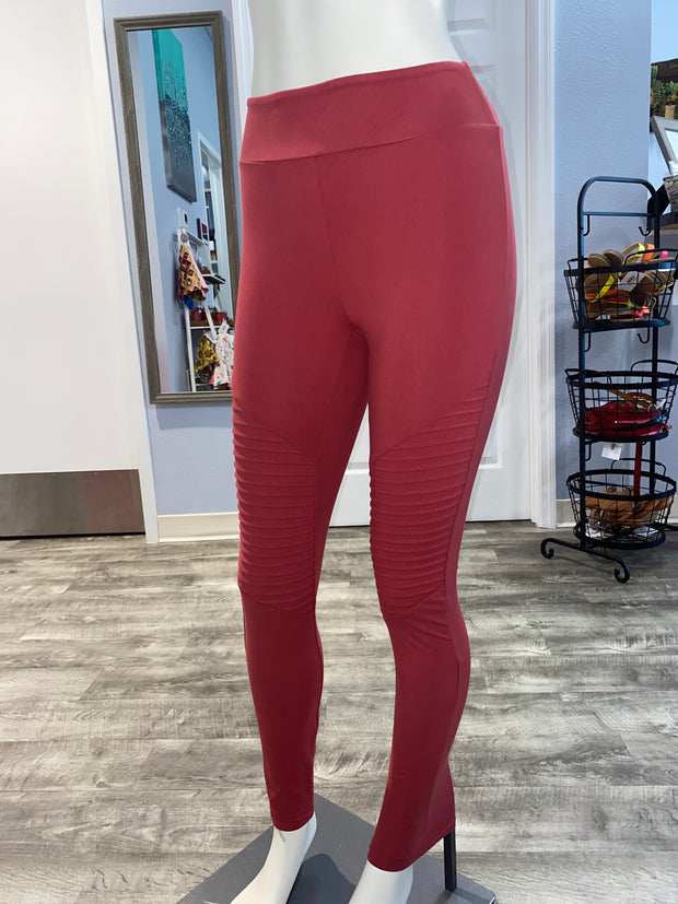 Soft As Butter Moto Leggings In Coral