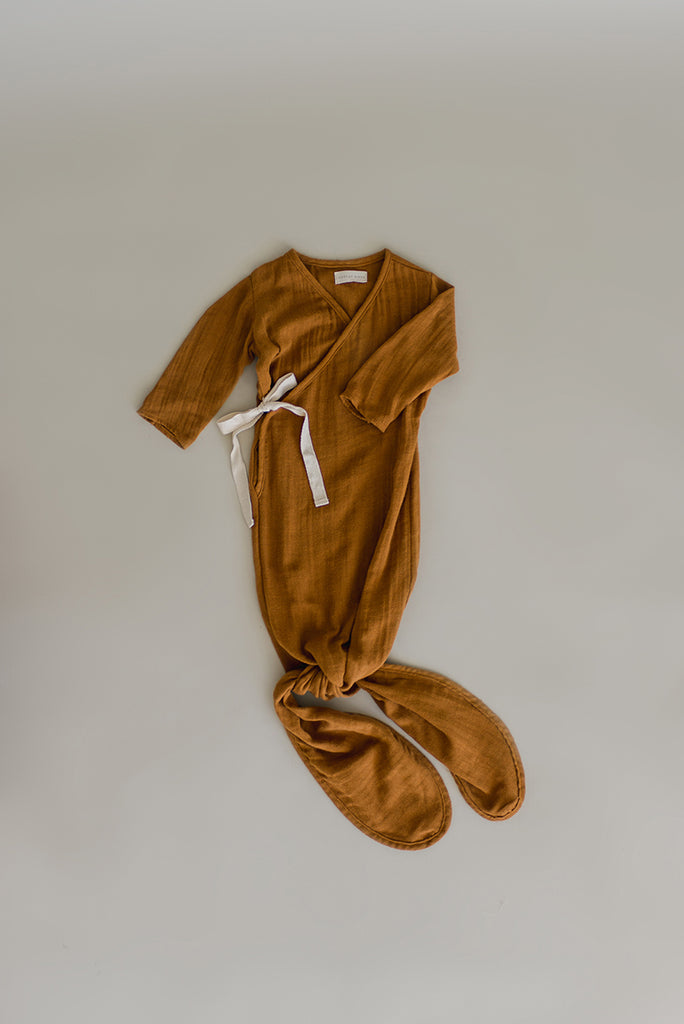 Essential Knotted Gown | Caramel
