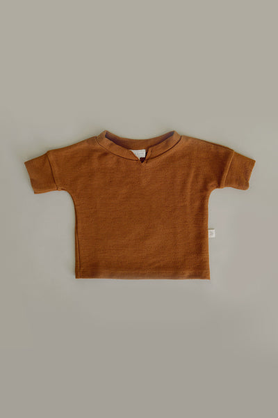 French Terry Top | Caramel