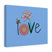 Load image into Gallery viewer, LOVE-Blue Canvas Gallery Wrap