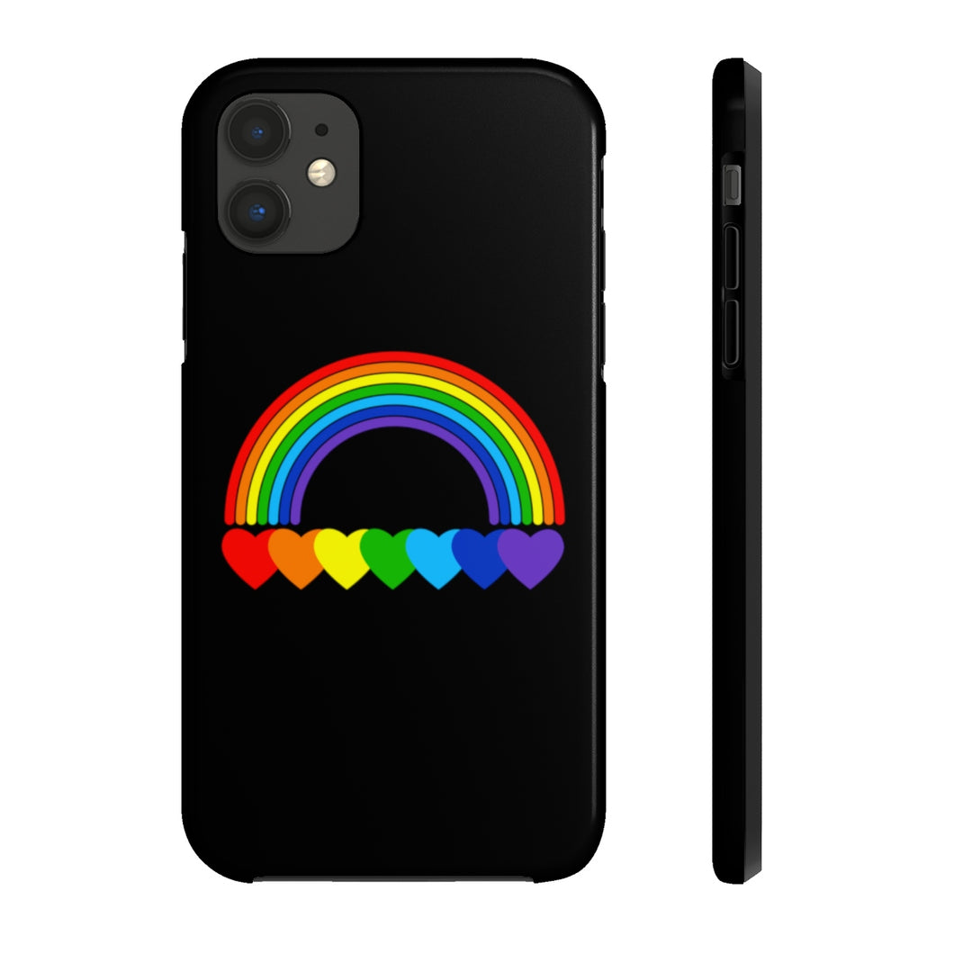 Rainbow Hearts Case Mate Tough iPhone Case