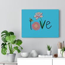 Load image into Gallery viewer, LOVE-Teal Canvas Gallery Wrap