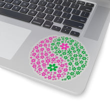 Load image into Gallery viewer, Flowers Yin/Yang Kiss-Cut Stickers